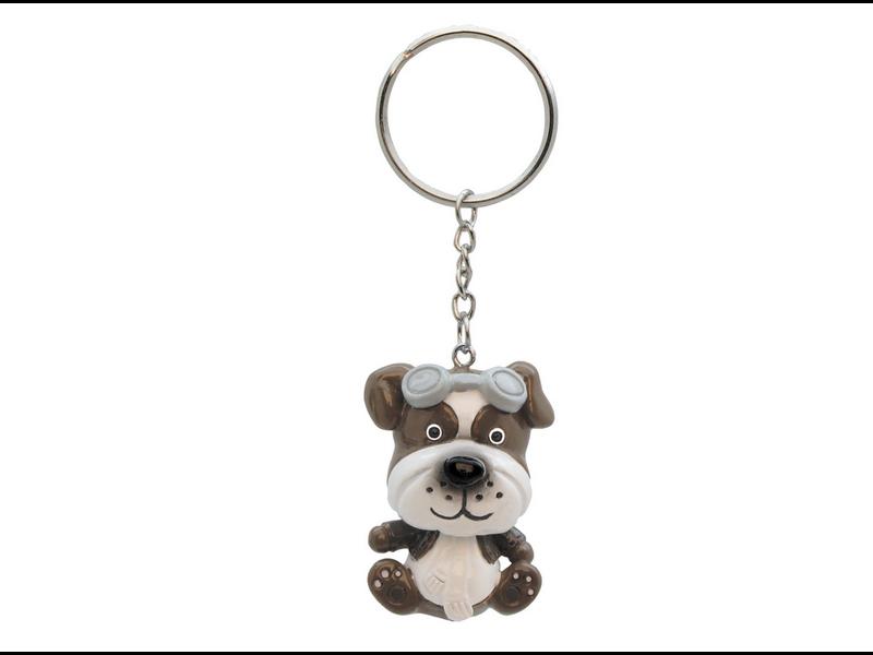 Keychain: Aviator Dog Bobble Head