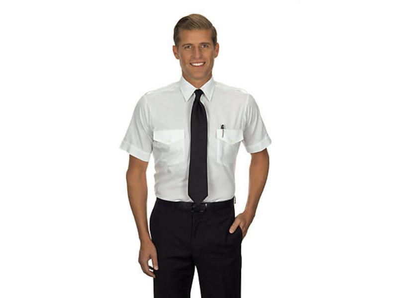 Phillips Van-Heusen Corp Shirt: Aviator SS Blu 14.5