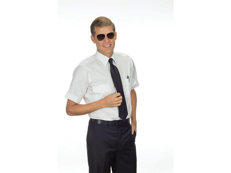 Phillips Van-Heusen Corp Shirt: Aviator SS 100% Cotton Non-Iron Wht 14