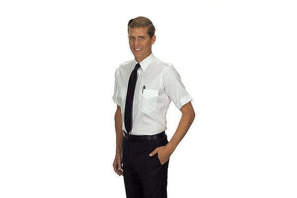 Shirt: Aviator Stretch SS Wht 14