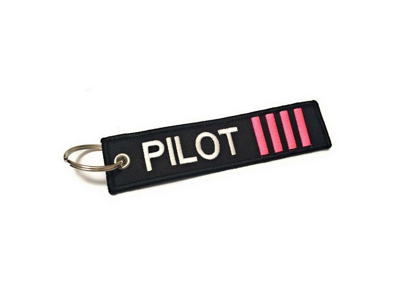 KEYCHAIN: PILOT 4 PINK