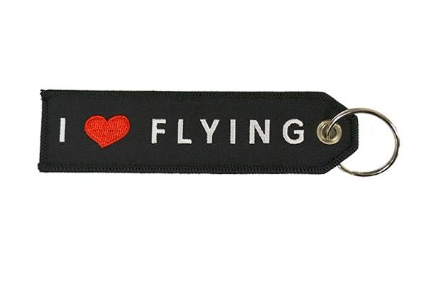 Key Chain: I Love (heart) Flying