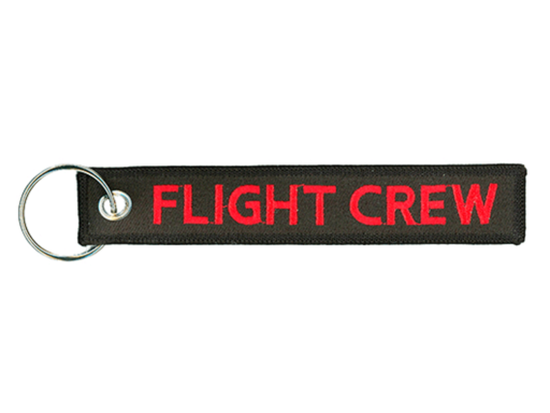 Key Chain: Flight Crew (Red and Black)