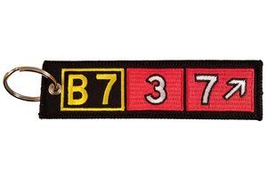 Key Chain: Embroidered B737