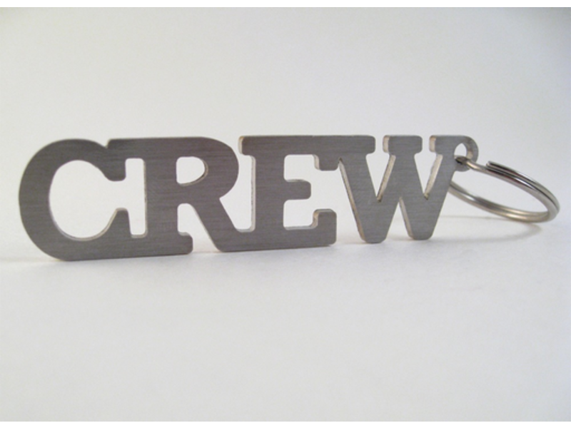 Key Chain: Crew Stainless Steel