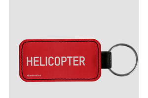Key Chain: Helicopter Red Tag