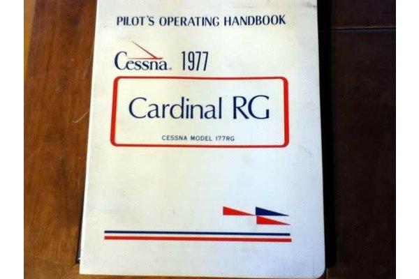Cessna Aircraft Company 1977 Cessna Cardinal RG Aircraft Owner's Manual p/n D1037-13 *Outlet