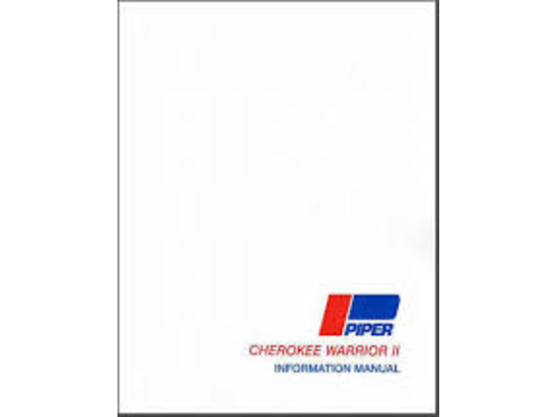 CAV-AIR, inc. Piper Cherokee Warrior II PA-28 161  Manual