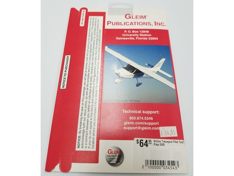 Gleim Publications, inc. Airline Transport Pilot Test Prep DVD