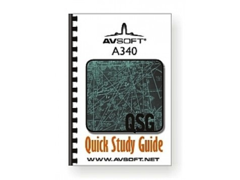 AVSOFT A340 Quick Study Guide *Outlet