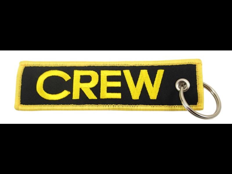 Mr. Pilot Aviation Shop Key Chain: Embroidered Crew Black & Gold
