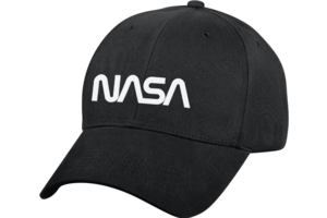 Cap: NASA Worm Logo Low Profile Black Hat