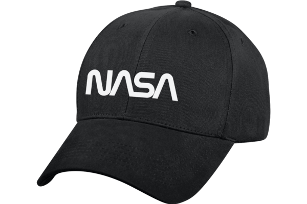 Cap: NASA Worm Logo Low Profile Black Hat