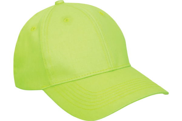 Cap: Safety Green Low Profile Black Hat