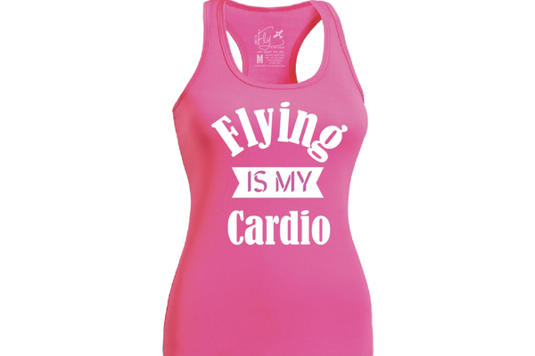 Dare to Fly Apparel Tank: Flying Is My Cardio