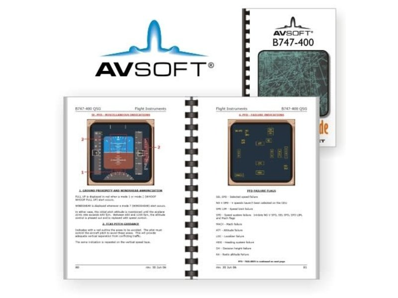 Avsoft Systems,LLC 747-400 Quick Study Guide