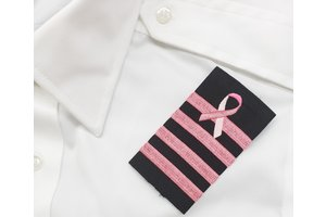 Epaulettes: Black, Pink, 4 Bar