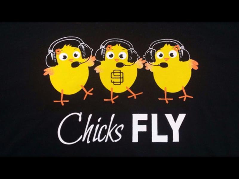 Chicks Fly T-Shirt Medium