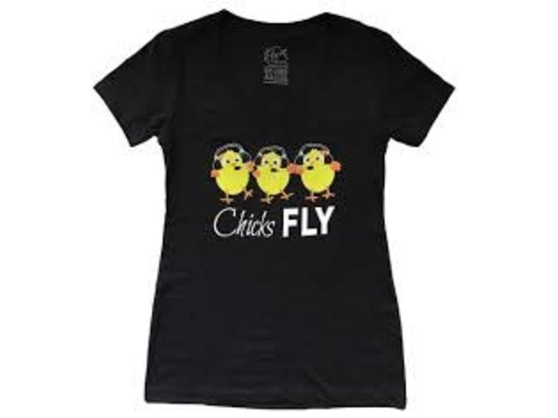 Chicks Fly T-Shirt Small
