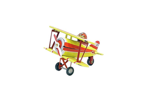 Tin Biplane Ornament