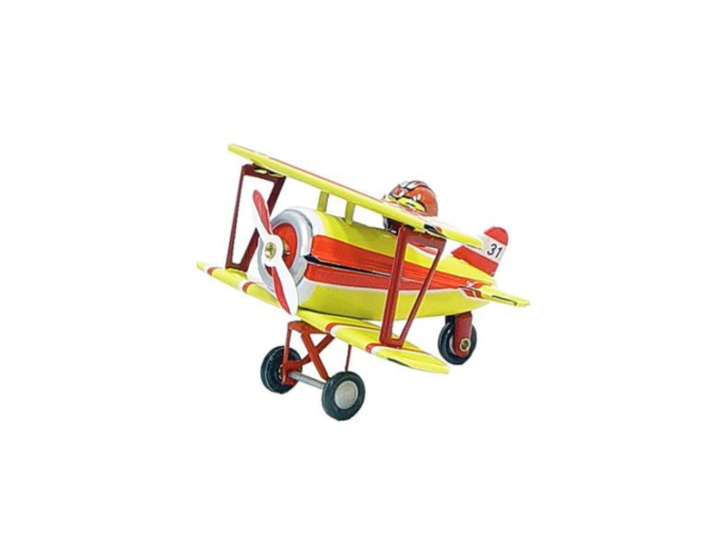 Tin Biplane Ornament