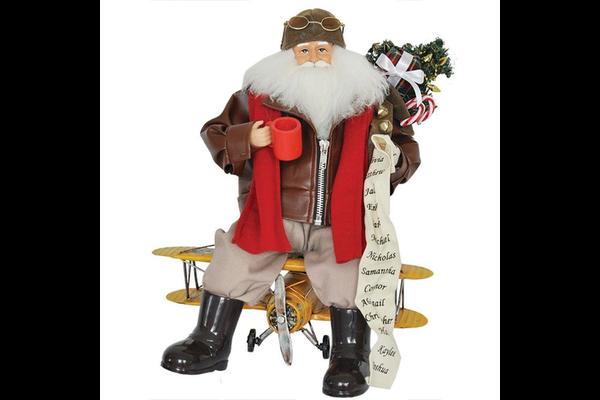 18'' Biplane Santa Pilot