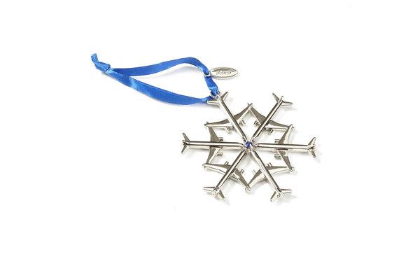 Boeing Jet Snowflake 2016 Waterford Nickel-Plated Ornament