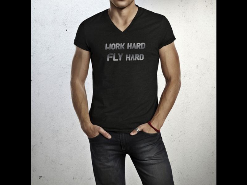 T-Shirt: Work Hard Fly