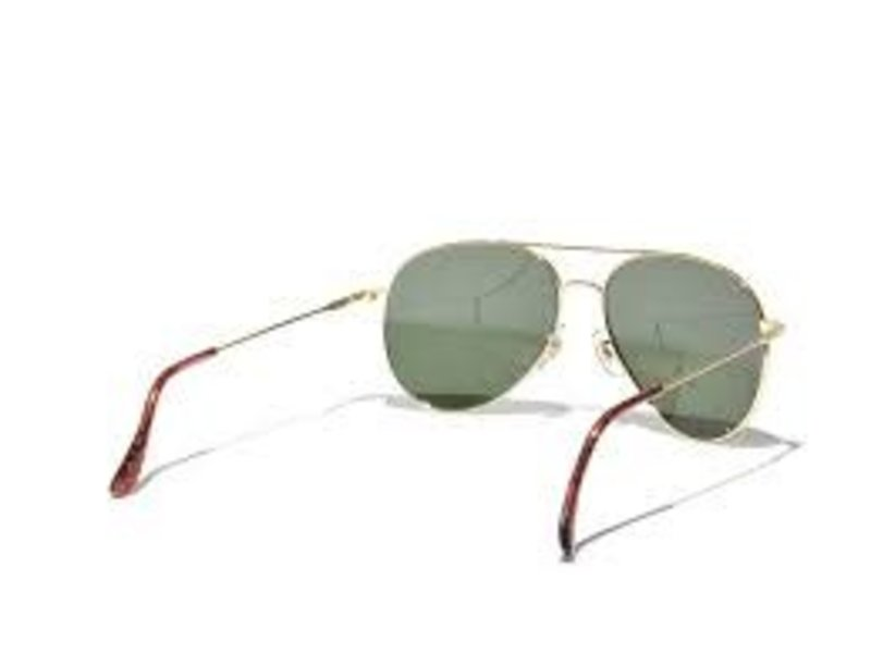 AO Eyewear, Inc. AO: General Gold Frame, Wire Spatula, Green Lens, 58