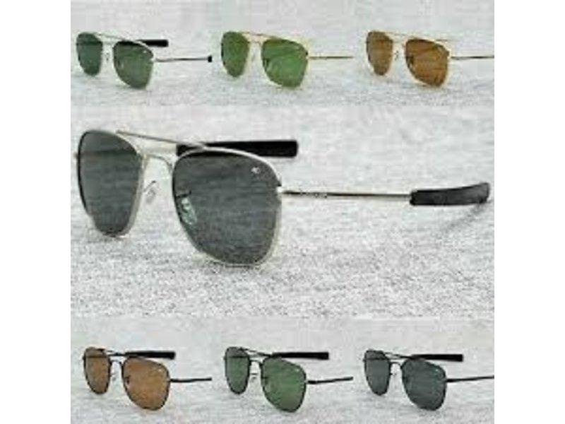 AO Eyewear, Inc. AO: Original Pilot Silver Frame, Bayonet,  Gray Lens, 52