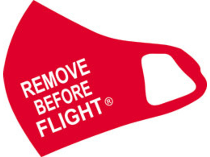 Mask: Remove Before Flight (Red)