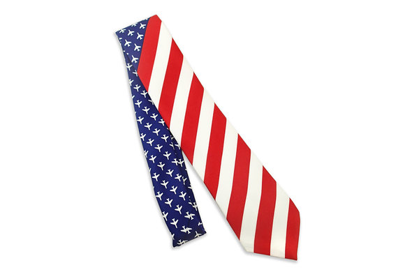 Tie: USA Flag, RWB Planes