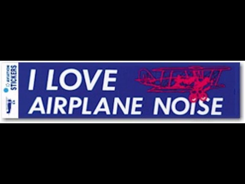 Bumper Sticker: I Love Airplane Noise