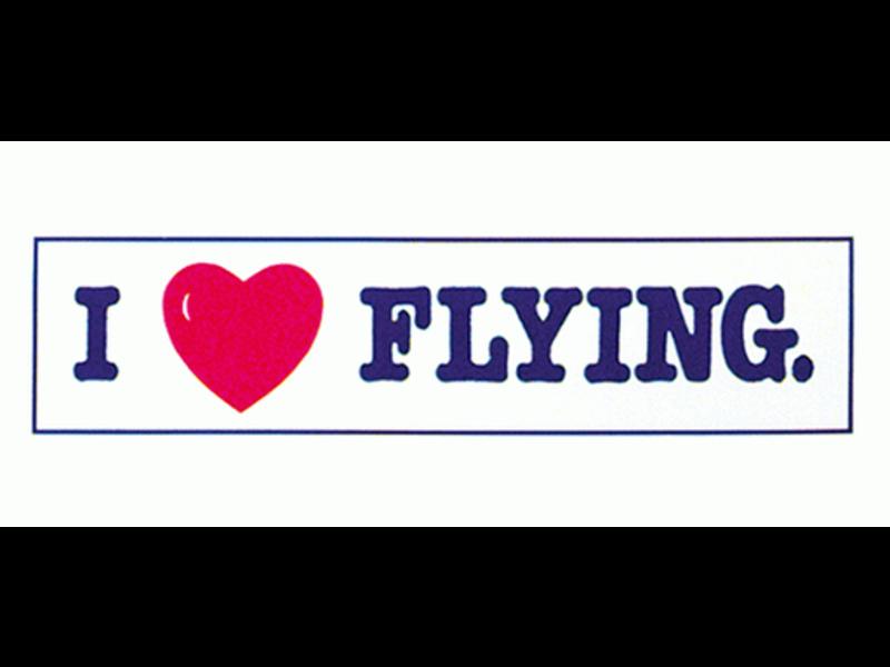 Bumper Sticker: I Heart Flying