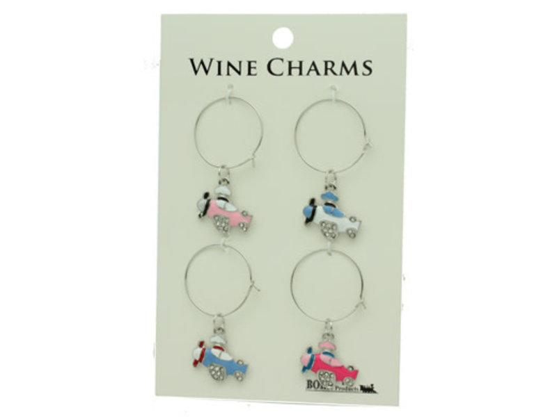 Airplane Wine Charms
