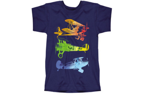T-Shirt: Watercolor Planes Youth