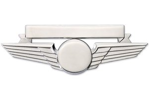 Pin: Wing w/ Nametag Silver