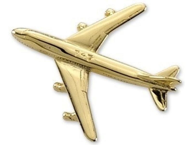 Pin: Boeing 747 Gold