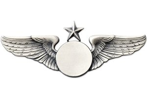Pin: Classic Wings w/ Star Silver