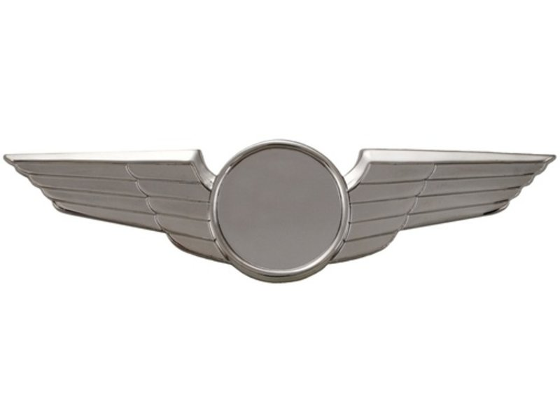 Pin: Modern Wing Plain Silver