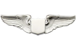 "Pin: 3"" Wing Shield Silver"