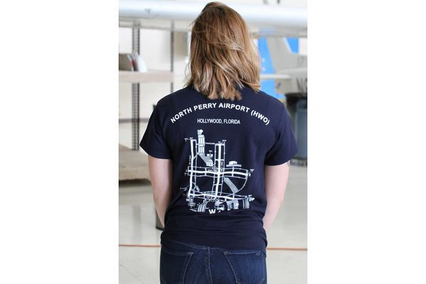 Dare to Fly Apparel T-Shirt: HWO Airport Diagram