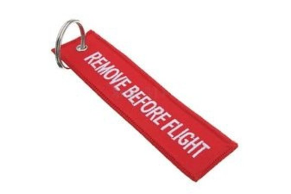 Keychain: Remove Before Flight Embroidered