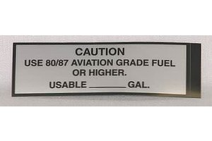 STICKER: CAUTION USE 80/87
