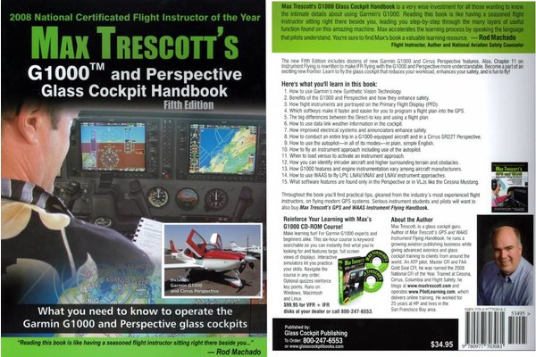 G1000 GLASS COCKPIT HANDBOOK, MAX TRESCOTT, 5th Ed