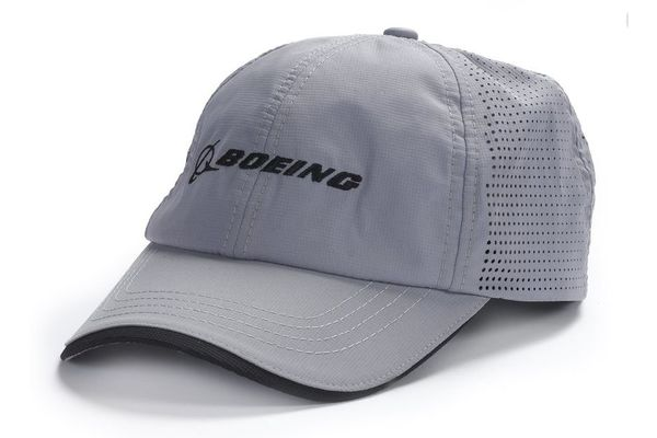 The Boeing Store Cap: Boeing Logo Performance Hat Grey