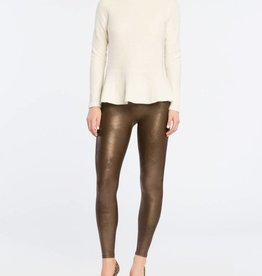 Spanx Bronze Faux Leather Leggings