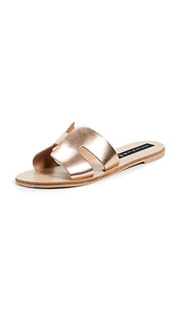 40d6bd242ec Greece Slide Rose Gold - Femme Boutique
