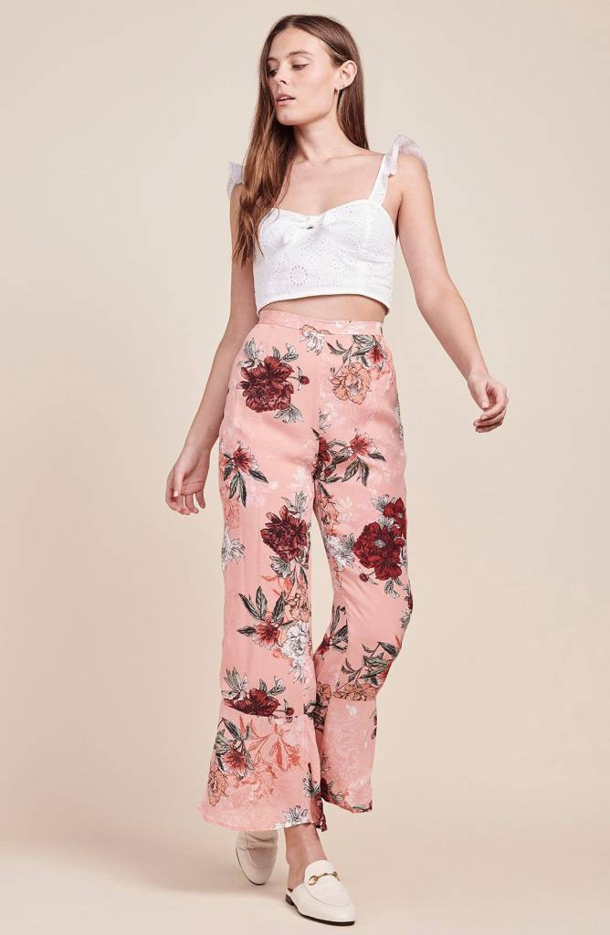 BB Dakota Isabelle Printed Ruffle Bottom Pant
