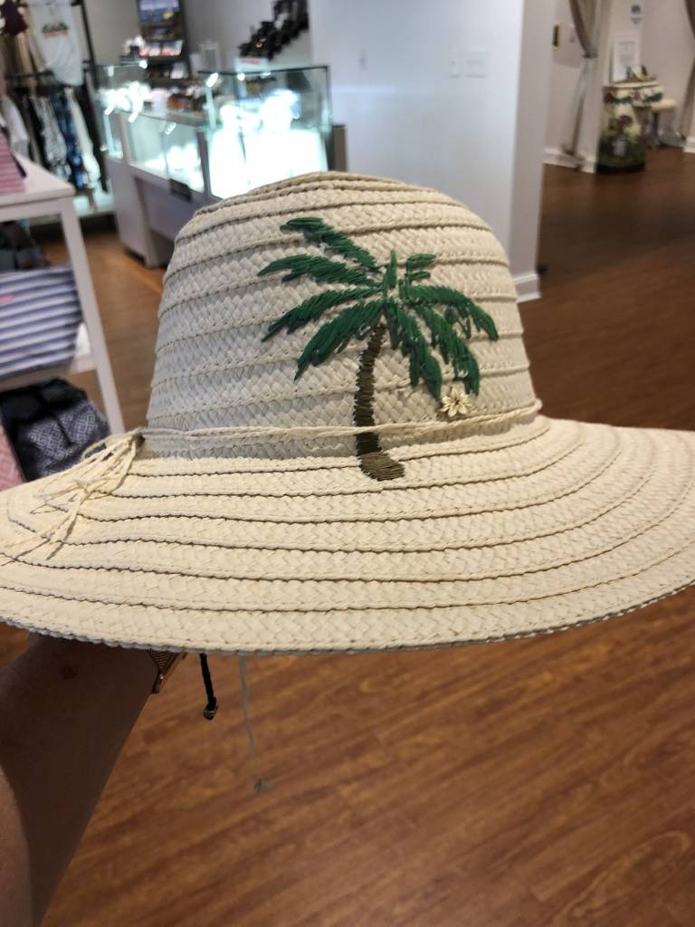 Dorfman Pacific Embroidered Panama Hat
